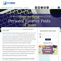 25 Best Personal Finance Articles of 2020