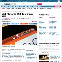 Best 4G phones 2014: 10 to choose from