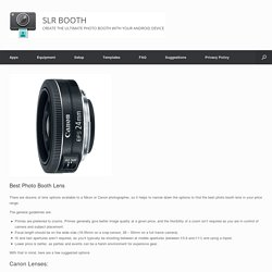 Best Photo Booth Lens - SLR Booth
