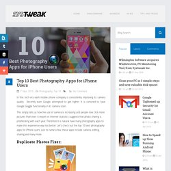 Top 10 Best Photography Apps For IPhone Users