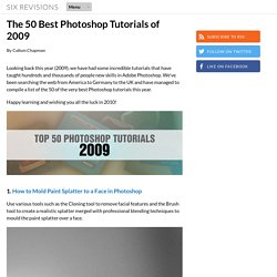 The 50 Best Photoshop Tutorials of 2009