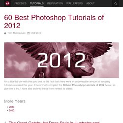 60 Best Photoshop Tutorials of 2012