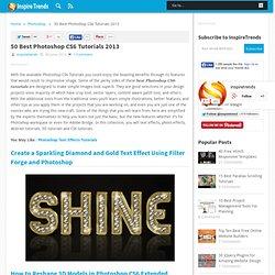 50 Best Photoshop CS6 Tutorials 2013