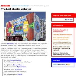 The best physics websites