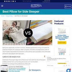 Best Pillow for Side Sleeper