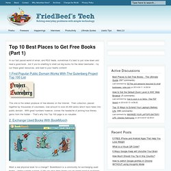 Top 10 Best Places to Get Free Books (Part 1)