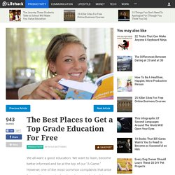 The Best Places to Get a Top Grade Education For Free
