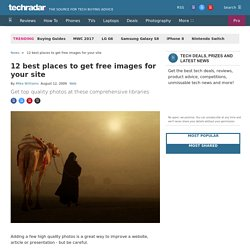 12 best places to get free images for your site