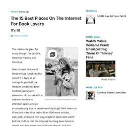 The 15 Best Places On The Internet For Book Lovers