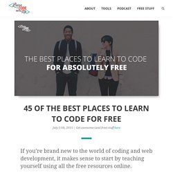 45 of The Best Places to Learn to Code For Free