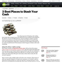 3 Best Places to Stash Your Cash - CBS MoneyWatch.com
