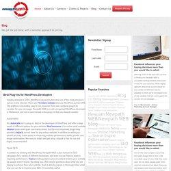 Best Plug-ins For WordPress Developers