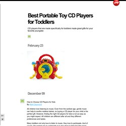 Best Portable Toy CD Players for Toddlers