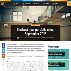 The best new portfolio sites, September 2016