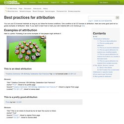 Best practices for attribution