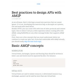Best practices to design APIs with AMQP