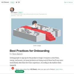 Best Practices for Onboarding – UX Planet