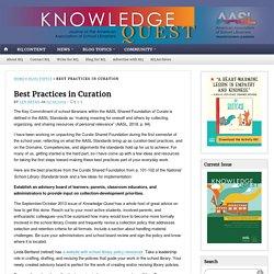 Best Practices in Curation