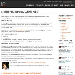 GTD Best Practices: Process (Part 2 of 5)