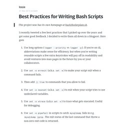 Best Practices for Writing Bash Scripts