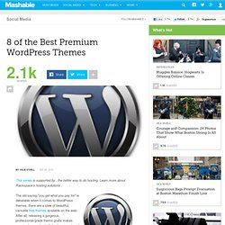 8 of the Best Premium WordPress Themes