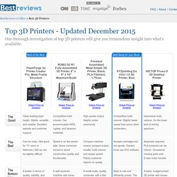5 Best 3D Printers - Dec. 2015 - BestReviews