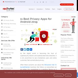 11 Best Privacy Apps For Android [2019]