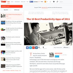 The 10 Best Productivity Apps of 2011