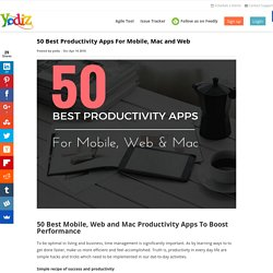 50 Best Productivity Apps For Mobile, Mac and Web