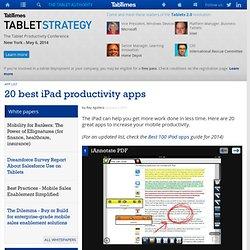 20 best iPad productivity apps