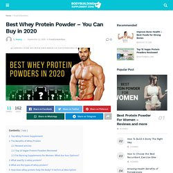 Best Whey Protein Powder Review - You Can Buy in 2020