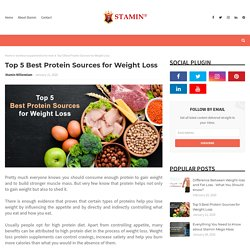 Top 5 Best Protein Sources for Weight Loss
