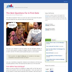 The Best Questions For A First Date