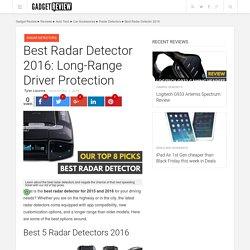 Best Radar Detector 2016