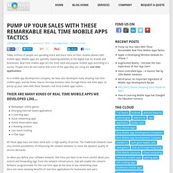 Best Real Time Mobile Apps That Pump-Up Your Sale