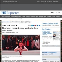 The best recruitment website I've ever seen