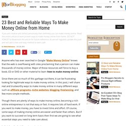 23 Best and Reliable Ways To Make Money Online from Home