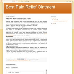 Best Pain Relief Ointment: What Are the Causes of Back Pain?