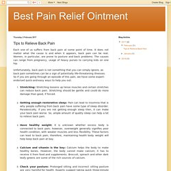 Best Pain Relief Ointment: Tips to Relieve Back Pain
