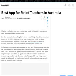 Best App for Relief Teachers in Australia