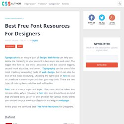 Best Free Font Resources For Inspiration