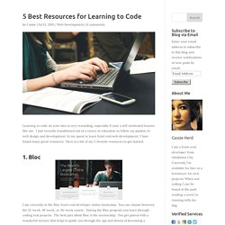 5 Best Resources for Learning to Code - Cassie Herd