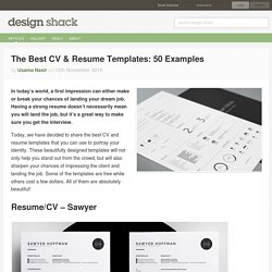 The Best CV & Resume Templates: 50 Examples