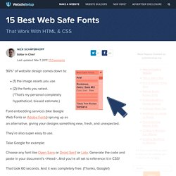 15 Best Web Safe HTML & CSS Fonts - websitesetup.org
