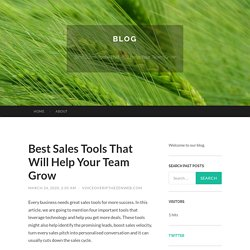 Best Sales Tools That Will Help Your Team Grow