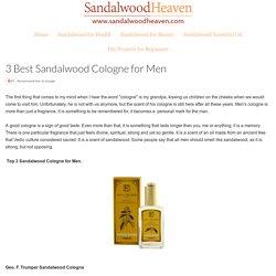 Best Sandalwood Cologne