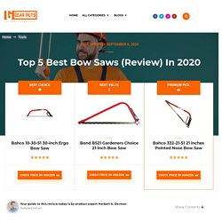 Top 5 Best Bow Saws 2020