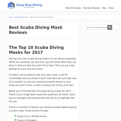 Best Scuba Diving Mask Reviews - Scuba Diving Gear