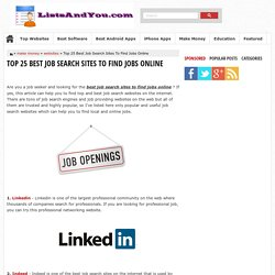 Top 25 Best Job Search Sites To Find Jobs Online