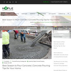 Concrete Pouring Tips for Your Home